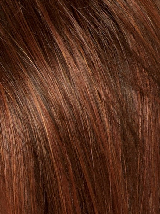 Color Cayenne-Spice-R = Copper Red and Brown 50/50 blend base with Dark Brown highlight