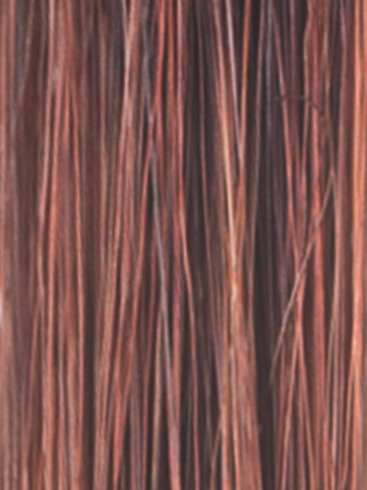 CRIMSON-LR | Light Copper blended with Medium Copper and Deep Burgundy roots