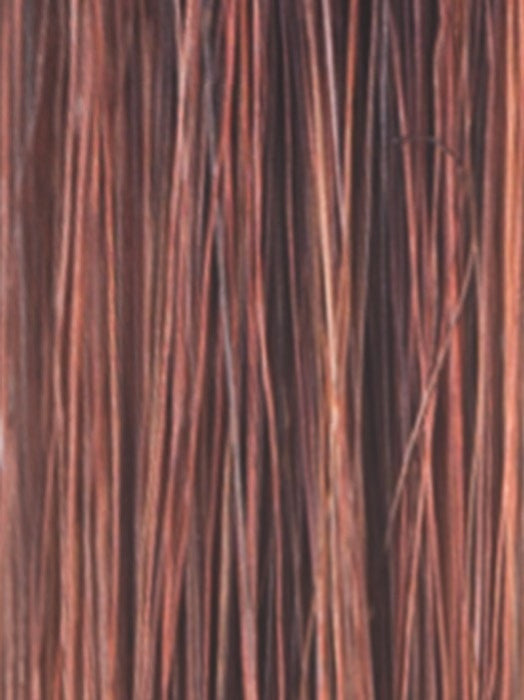 Color Crimson-LR = Deep Burgundy Root Shifting to Light Coppery tone