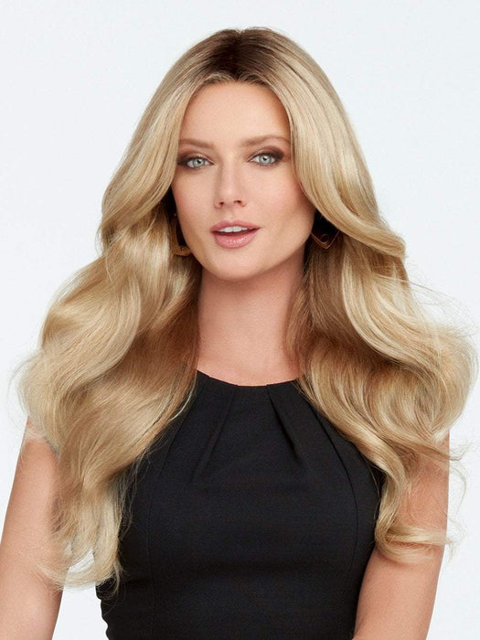 DOWN TIME Wig by RAQUEL WELCH in SS14/88 SHADED GOLDEN WHEAT | Medium Blonde Streaked With Pale Gold Highlights Dark Brown with Subtle Warm Highlights