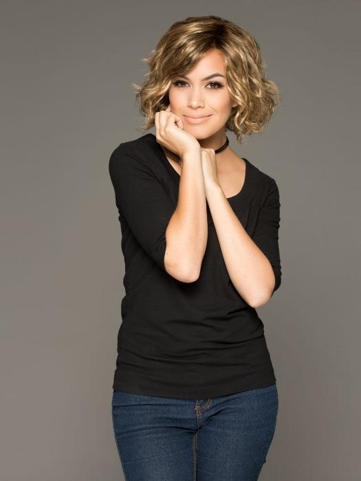 Gabor Sweet Talk is a thoroughly modern short lace front wig. Remarkably natural looking.