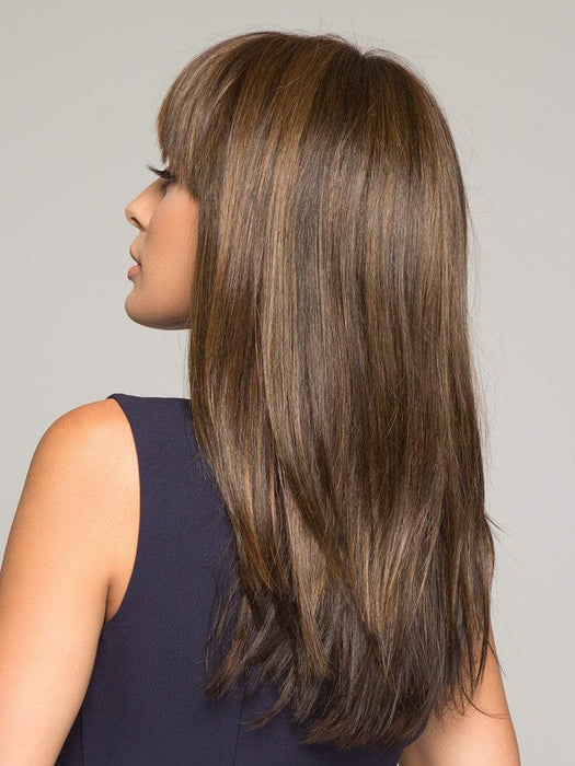 TARYN by ENVY in MEDIUM BROWN | Medium Brown with natural highlights (This piece has been styled and straightened)