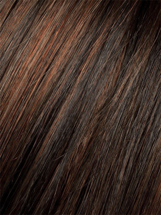 Color Dark Auburn = Dark Auburn, Bright Copper Red, and Dark Brown blend