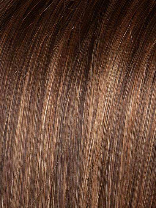 HOT-MOCCA-ROOTED | Warm Medium Brown, Light Auburn, and Dark Auburn Blend