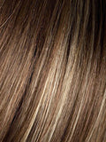Light-Bernstein-Rooted | Light Auburn, Light Honey Blonde, and Light Reddish Brown blend and Dark Roots