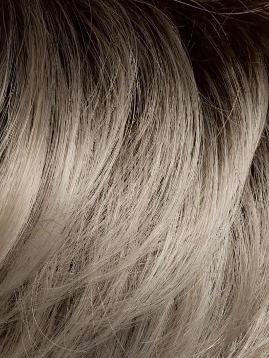 Color LIGHT-CHAMPAGNE-ROOTED = Platinum Blonde, Light Golden Blonde, Light Ash Blonde blend and Dark Roots