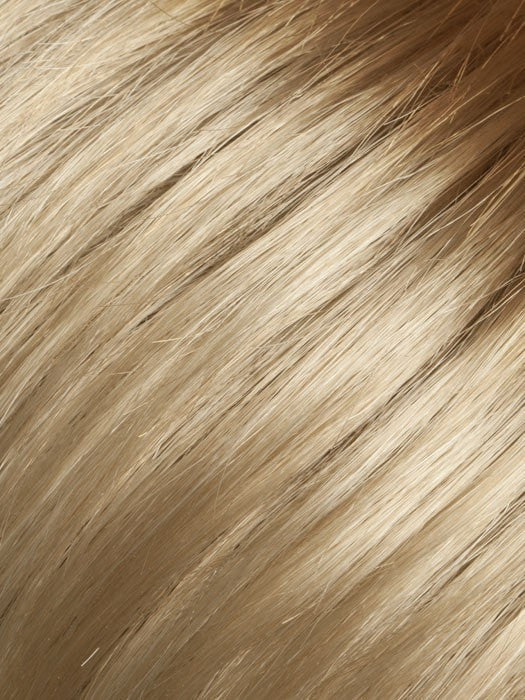 Color Light-Honey-Rooted = Medium Honey Blonde, Platinum Blonde, and Light Golden Blonde blend with Dark Roots
