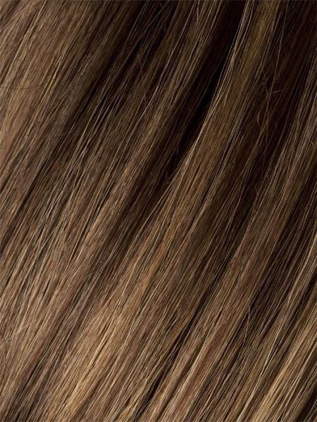 MOCCA-ROOTED | Light Brown base with Light Caramel highlights on the top only, darker nape
