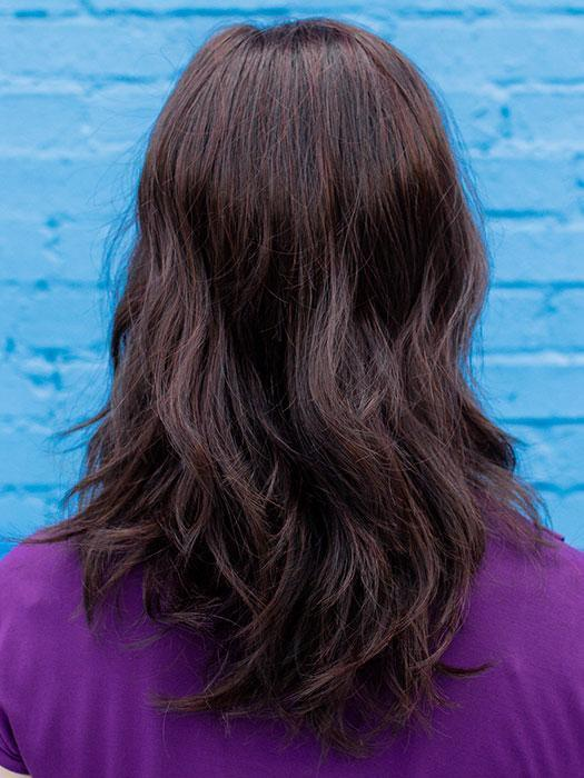 TOUCH By ELLEN WILLE in DARK CHOCOLATE MIX | Dark Brown base with Light Reddish Brown highlights