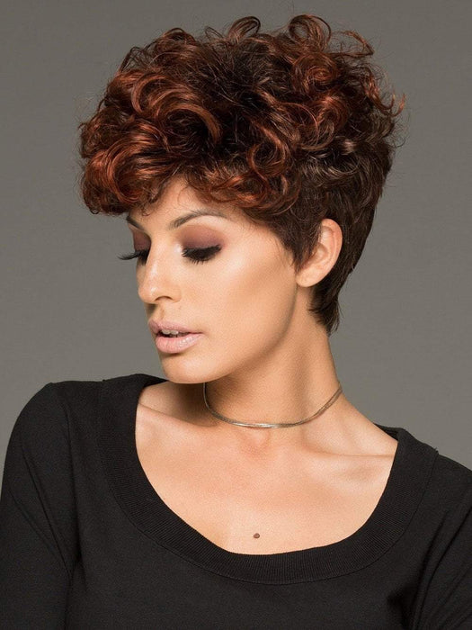 The side bang can be cut or trimmed by your stylist. The layered curl provides full coverage along the hairline