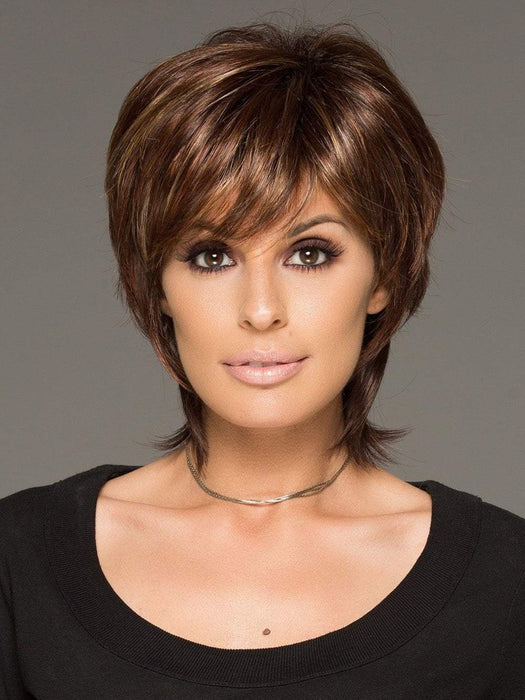 This cutting edge hair style has gorgeous layers and a long wispy nape for texture & easy styling