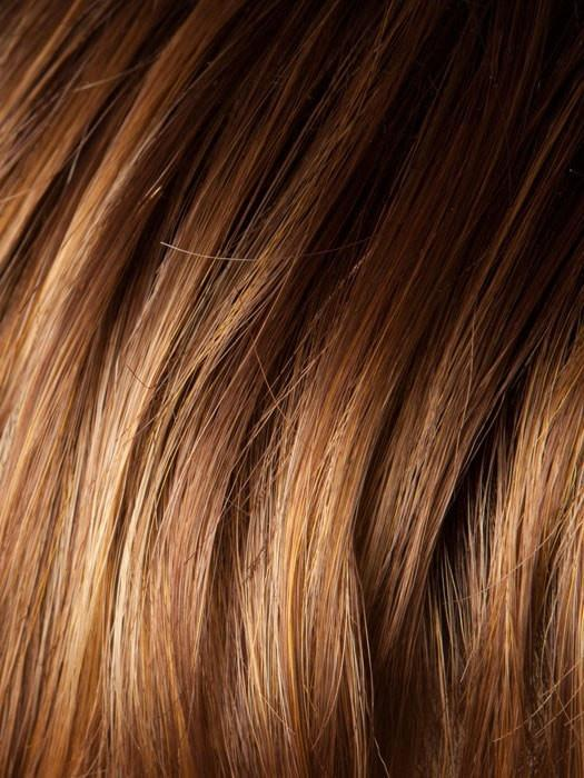 COGNAC-ROOTED | Medium to Light Copper Red and Light Auburn Blend with Medium Auburn Roots