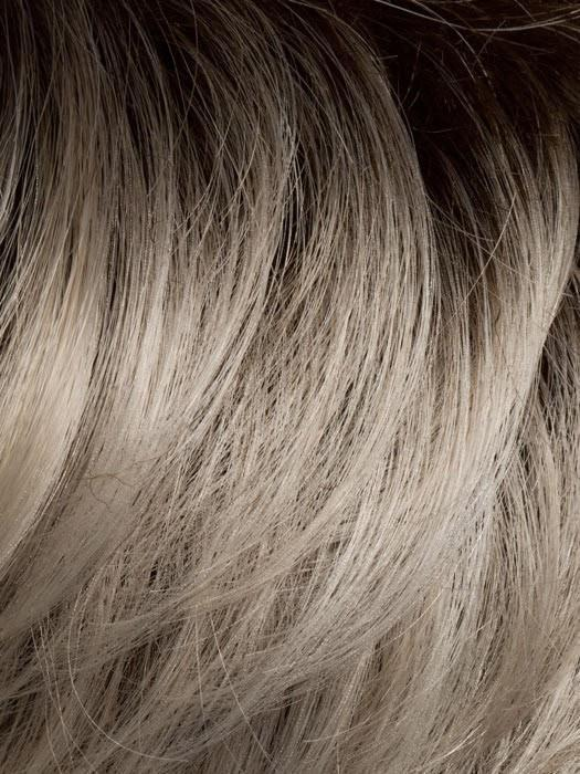 LIGHT-CHAMPAGNE-ROOTED | Platinum Blonde, Cool Platinum Blonde, and Light Golden Blonde blend