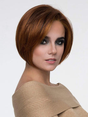 EVE Wig by ENVY in LIGHTER RED | Irish Red with subtle Blonde highlights