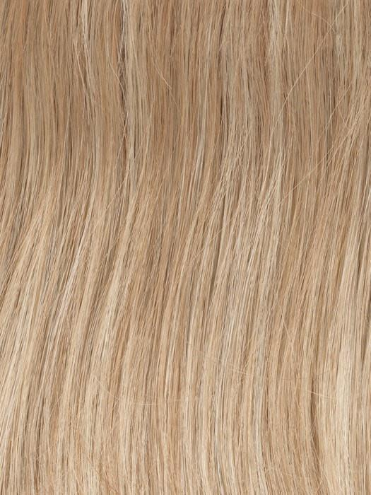 Color GL14/22SS = Sandy Blonde: Dark golden blonde base blends into multi-dimensional tones of medium gold blonde and light beige blonde