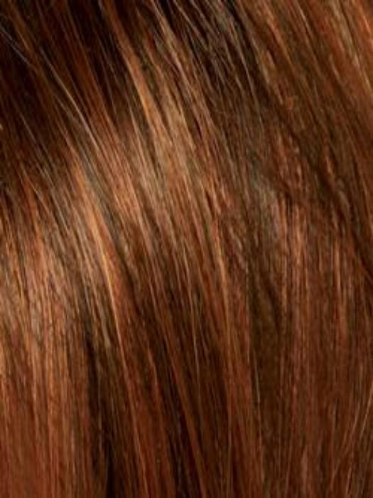 GINGER-H | Medium Brown and Light Auburn highlight
