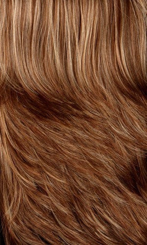 Color 8/27/33H = MEDIUM BROWN WITH GOLD BLONDE, STRAWBERRY & AUBURN HIGHLIGHTS