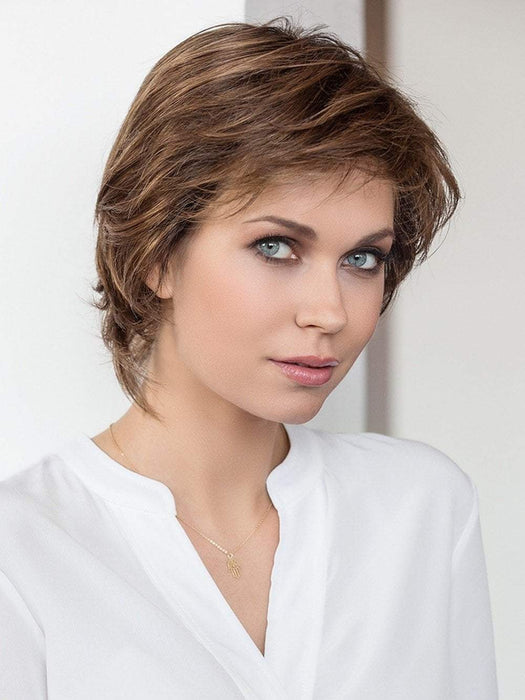 The hair Society Luxury Collection by Ellen Wille is 100% hand tied, monofilament, with a beautiful lace front.