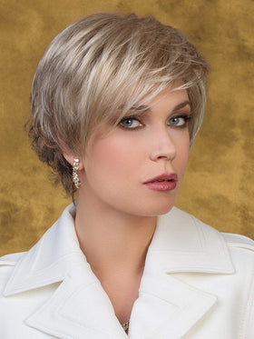 JOY Wig by Ellen Wille in PEARL BLONDE ROOTED | Pearl Platinum, Dark Ash Blonde, and Medium Honey Blonde mix
