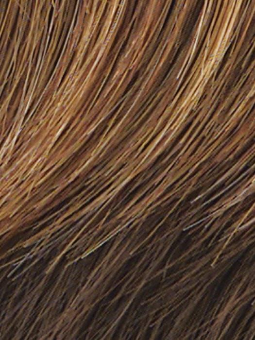 HT829S+ - Medium Brown with Ginger highlights