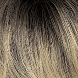 Color 614GR = WHEAT BLONDE / LIGHT GOLD BLONDE HIGHLIGHTS AND BROWN ROOTS
