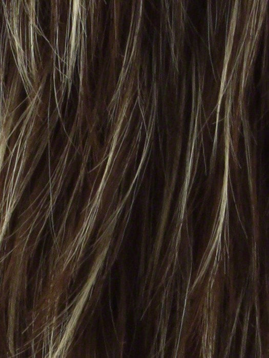 Color Iced-Mocha-R = Rooted Dark with Medium Brown blended with Light Blonde highlights