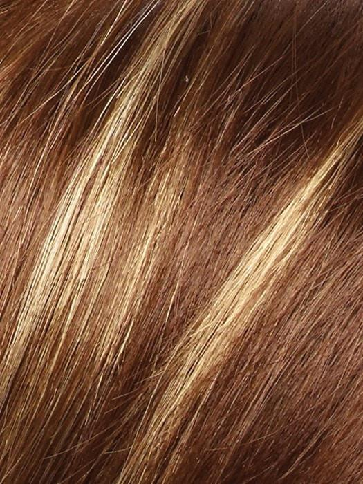 ICED-MOCHA |  Medium Brown blended with Light Blonde highlights