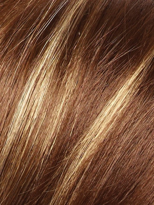 Color Iced Mocha = Rooted Dark with Medium Brown blended with Light Blonde highlights