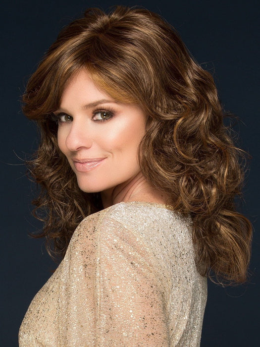 CHARLOTTE WIG by LOUIS FERRE in 6/8/28 Marble Brown Frost