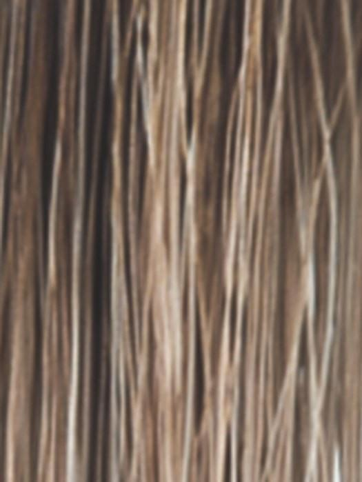 MACADAMIA-LR | The root is soft brown color that melts into a beige blonde color.