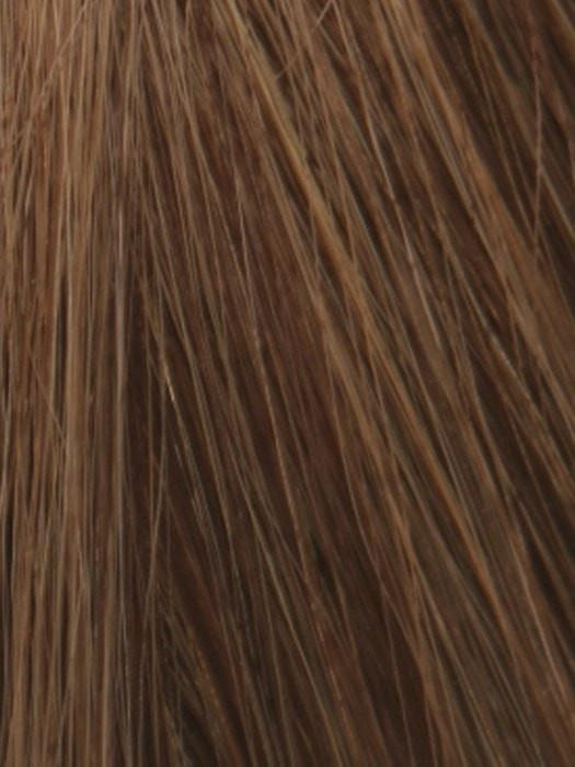 6/8/28 MARBLE BROWN FROSTED | Dark Brown and Medium Brown Blend with Warm Strawberry Blonde Highlight Tones