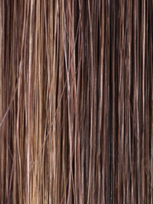MARBLE-BROWN-LR | Medium Brown blended with Light Honey Brown and Long Dark Brown roots