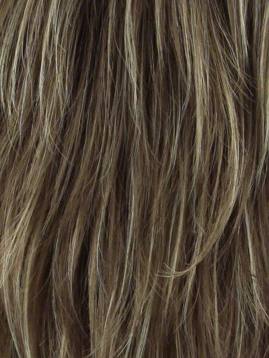MOCHACCINO-R | Light Brown with Strawberry Blonde Highlights and Dark Brown roots