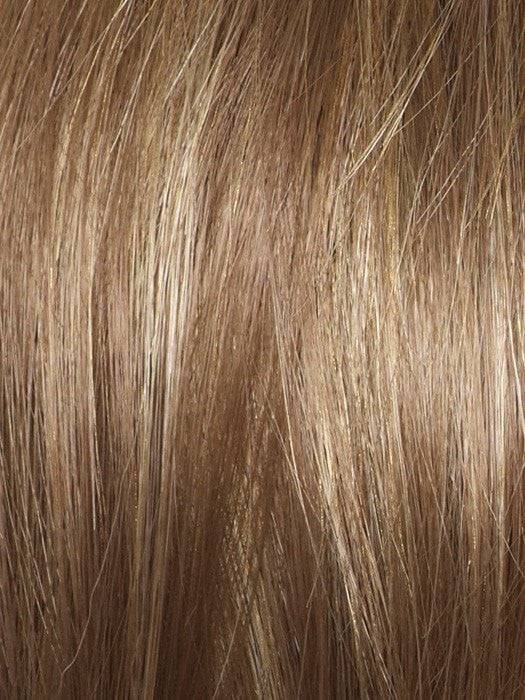Color Mochaccino R = Rooted Dark with Light Brown base with Strawberry Blonde highlights