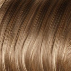 Maple Sugar-R Rooted Dark with Light Honey Brown base with Strawberry Blonde highlights