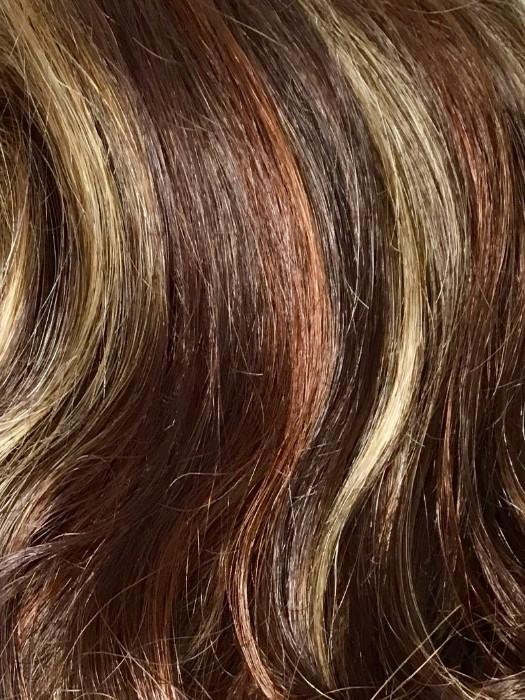 RAZBERRY ICE | Reddish Medium Brown base with 50/50 of Light Red + Golden Blond Highlights