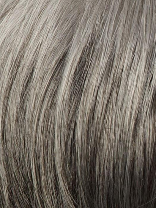 R119G SILVER & SMOKE | Light Brown with 80% Gray in Front Gradually Blending into 50% Gray Towards the Nape