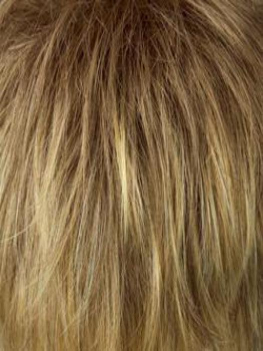 R13F25 Praline Foil - Neutral medium blonde with pale gold highlights around the face