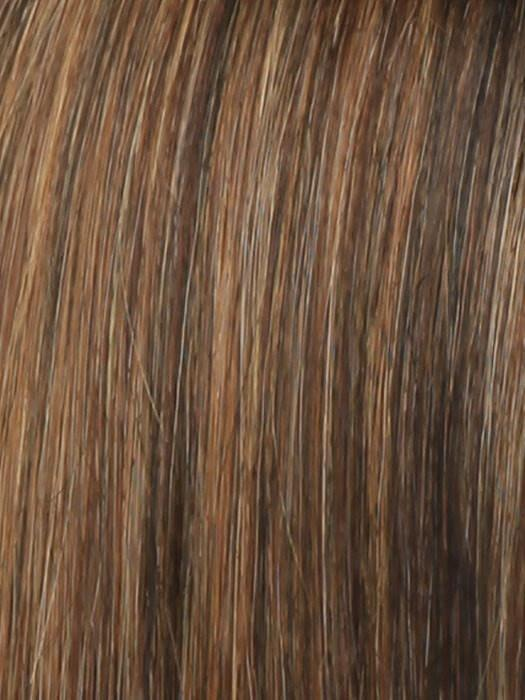 R3329S+ GLAZED AUBURN | Rich Dark Auburn with Pale Ginger Blonde Highlights
