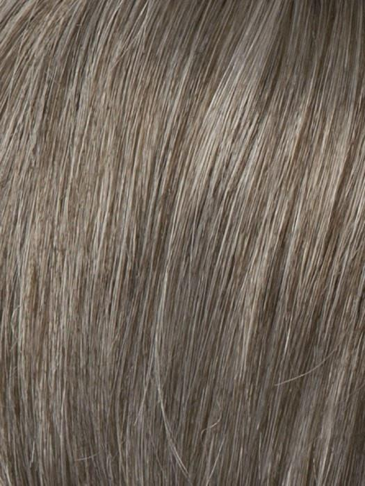 R388G GRADIENT SMOKED WALNUT | Light Brown with 80% gray on top gradually fading to a 50/50 Blend of Light Brown and Gray towards the nape
