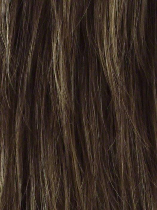 RAISIN GLAZE H | Rooted Dark Brown with Light Brown Base and Medium Blonde Highlights