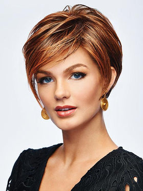 TAKE IT SHORT by Hairdo in R3025S+ GLAZED CINNAMON | Medium Reddish Brown with Ginger highlights