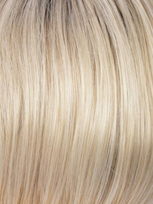 RH26/613RT8 | Golden Blonde with Platinum Blonde Highlights and Medium Brown Root