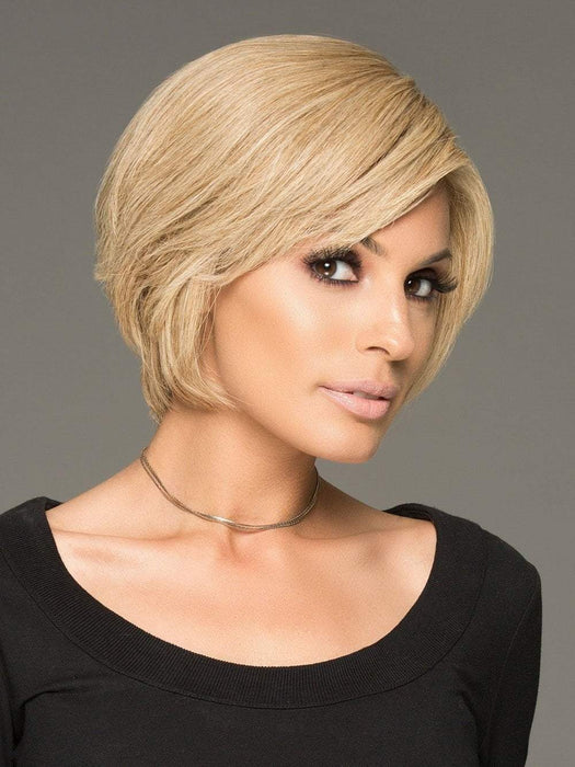 SUCCESS STORY by Raquel Welch in R1621S+ GLAZED SAND | Dark Natural Blonde with Cool Ash Blonde Highlights on Top (This piece has been styled and straightened)
