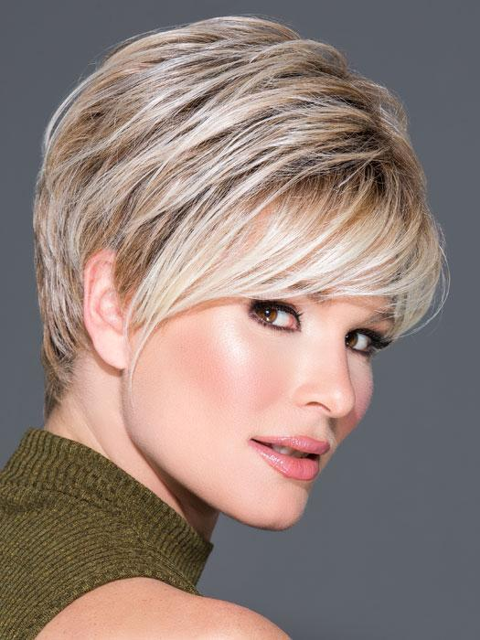 ADVANCED FRENCH by RAQUEL WELCH in RL19/23SS SHADED BISCUIT | Light Ash Blonde Evenly Blended with Cool Platinum Blonde with Dark Roots