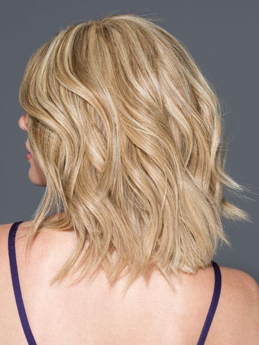 BEGUILE by RAQUEL WELCH in R1621S GLAZED SAND | Dark Natural Blonde with Cool Ash Blonde Highlights on Top