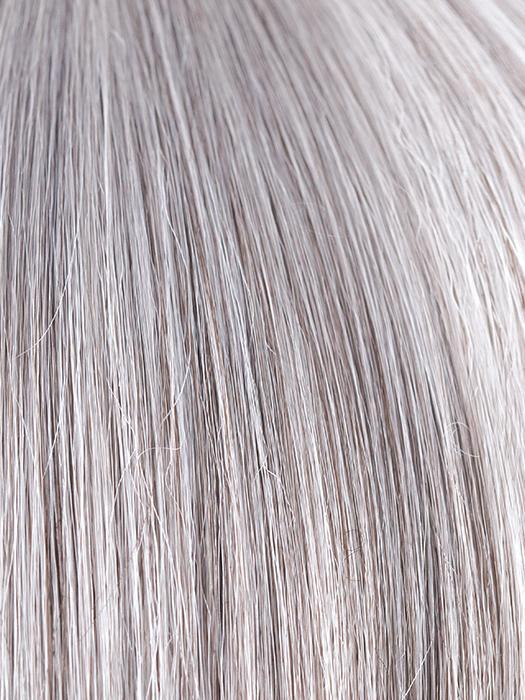 SILVER-STONE | Silver medium brown blend that transitions to silver and medium brown with silver bangs