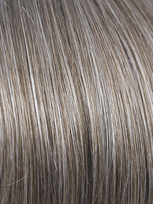 SANDY-SILVER | Medium Brown Transitionally Blending to Silver and Dramatic Silver Bangs