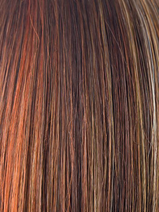 RAZBERRY-ICE | Medium Auburn Base with Copper and Strawberry Blonde Highlights