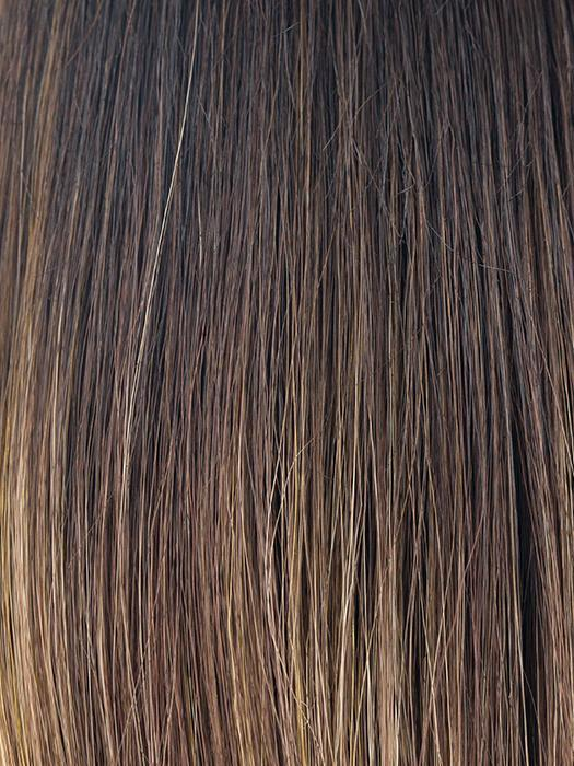 MARBLE-BROWN-LR | Dark brown root with medium brown and light honey brown